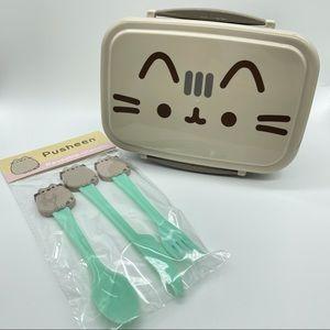 Pusheen Exclusive Utensils & Bento Lunch Box
